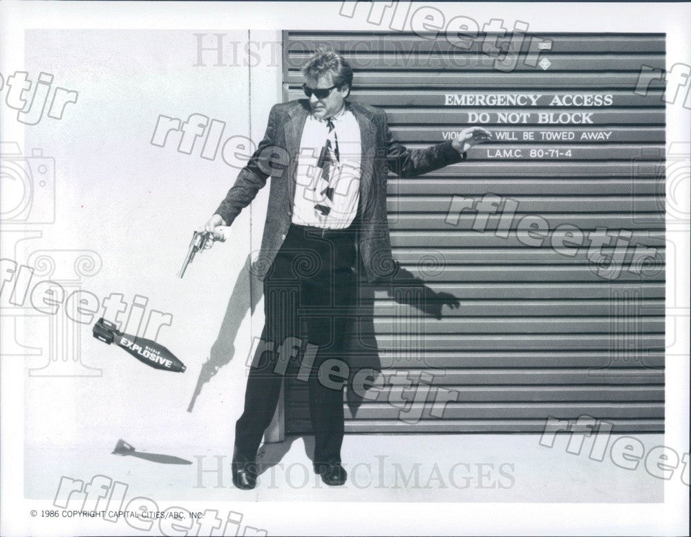 1986 American Actor David Rasche on TV Show Sledge Hammer! Press Photo adz445 - Historic Images