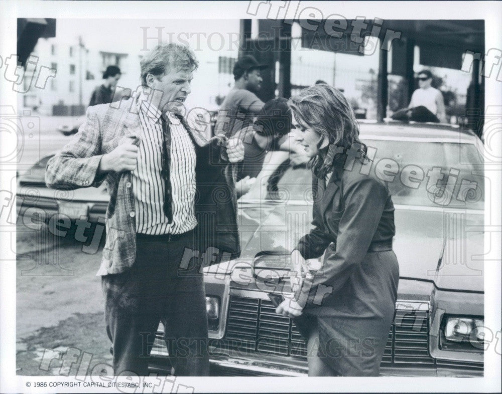 1986 Actors David Rasche & Anne-Marie Martin on TV Show Press Photo adz447 - Historic Images