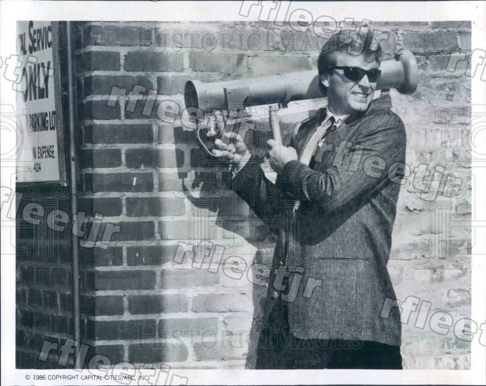 1986 American Actor David Rasche on TV Show Sledge Hammer! Press Photo adz453 - Historic Images