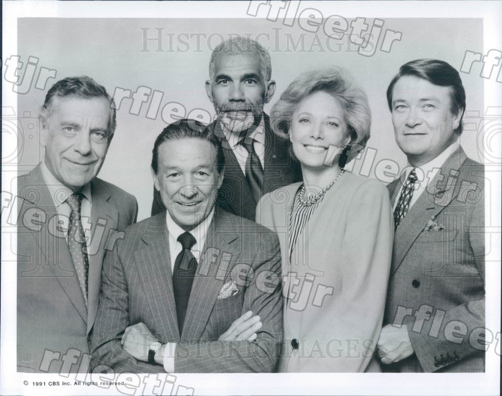 1991 60 Minutes Correspondents Morley Safer, Mike Wallace Press Photo adz465 - Historic Images