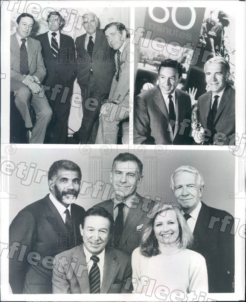 1987 60 Minutes Correspondents Mike Wallace, Morley Safer Press Photo adz469 - Historic Images