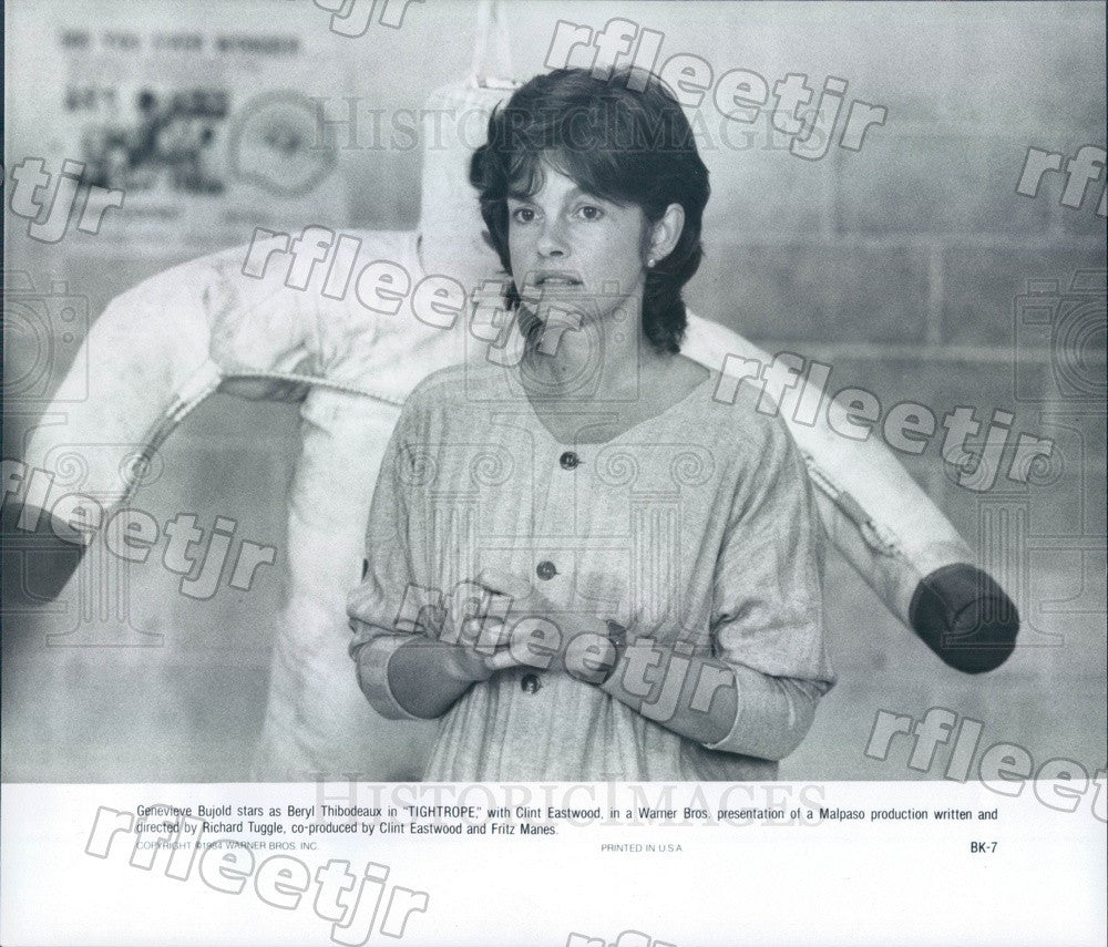 1984 Canadian Actress Genevieve Bujold in Film Tightrope Press Photo adz47 - Historic Images