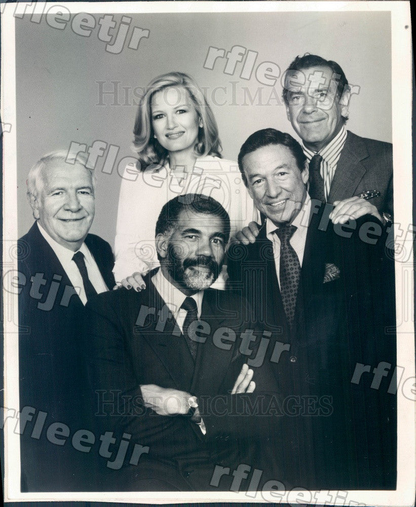 Undated 60 Minutes Correspondents Diane Sawyer, Ed Bradley Press Photo adz473 - Historic Images