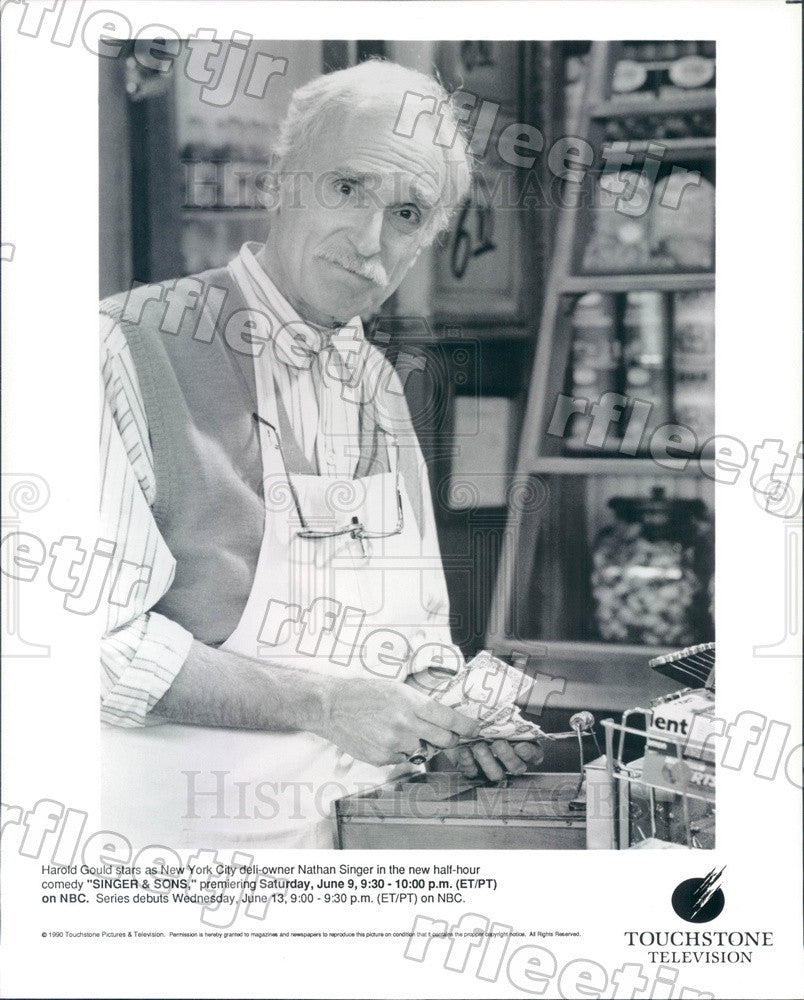 1990 American Actor Harold Gould on TV Show Singer & Sons Press Photo adz485 - Historic Images