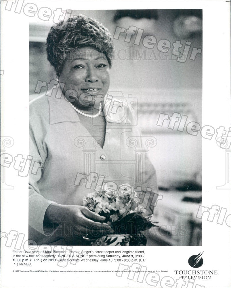 1990 American Actress Esther Rolle on TV Show Singer & Sons Press Photo adz489 - Historic Images