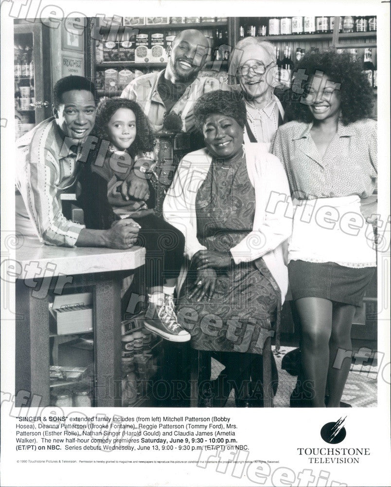 1990 Actors Harold Gould/Esther Rolle/Bobby Hosea/Tommy Ford Press Photo adz491 - Historic Images