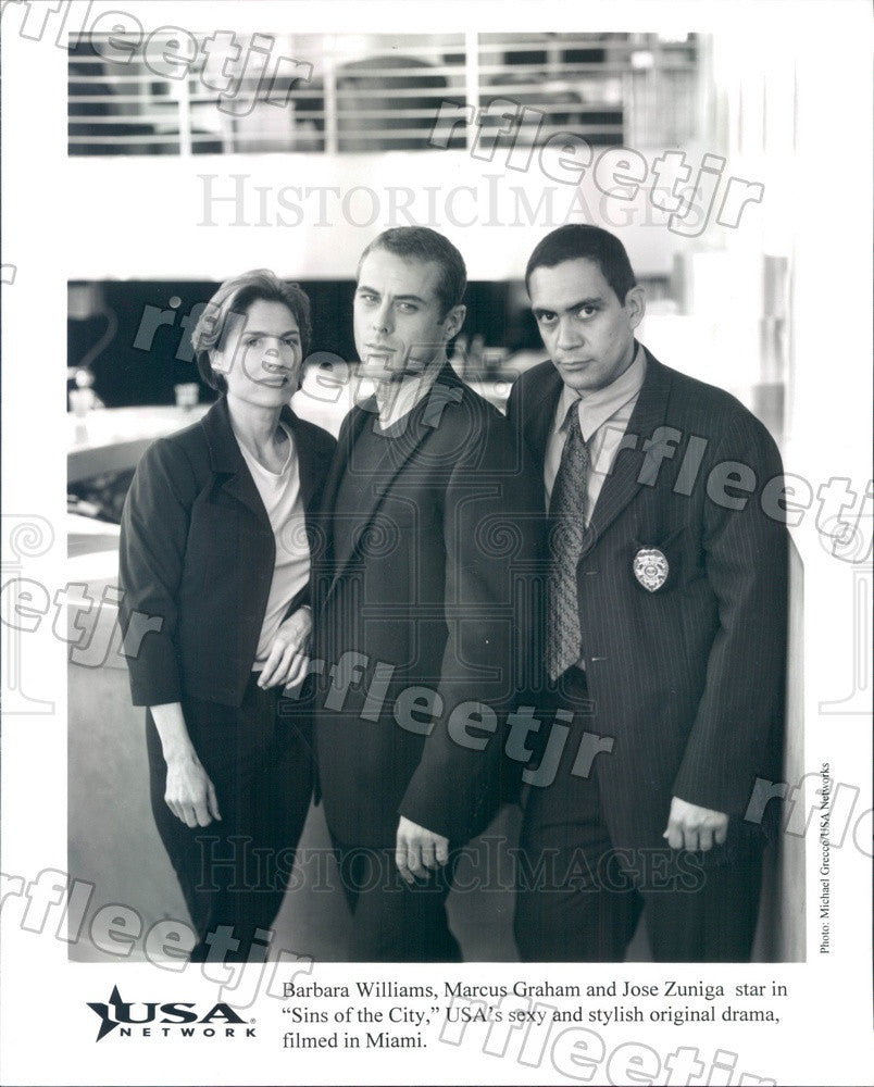 1998 Actors Barbara Williams, Marcus Graham, Jose Zuniga Press Photo adz493 - Historic Images