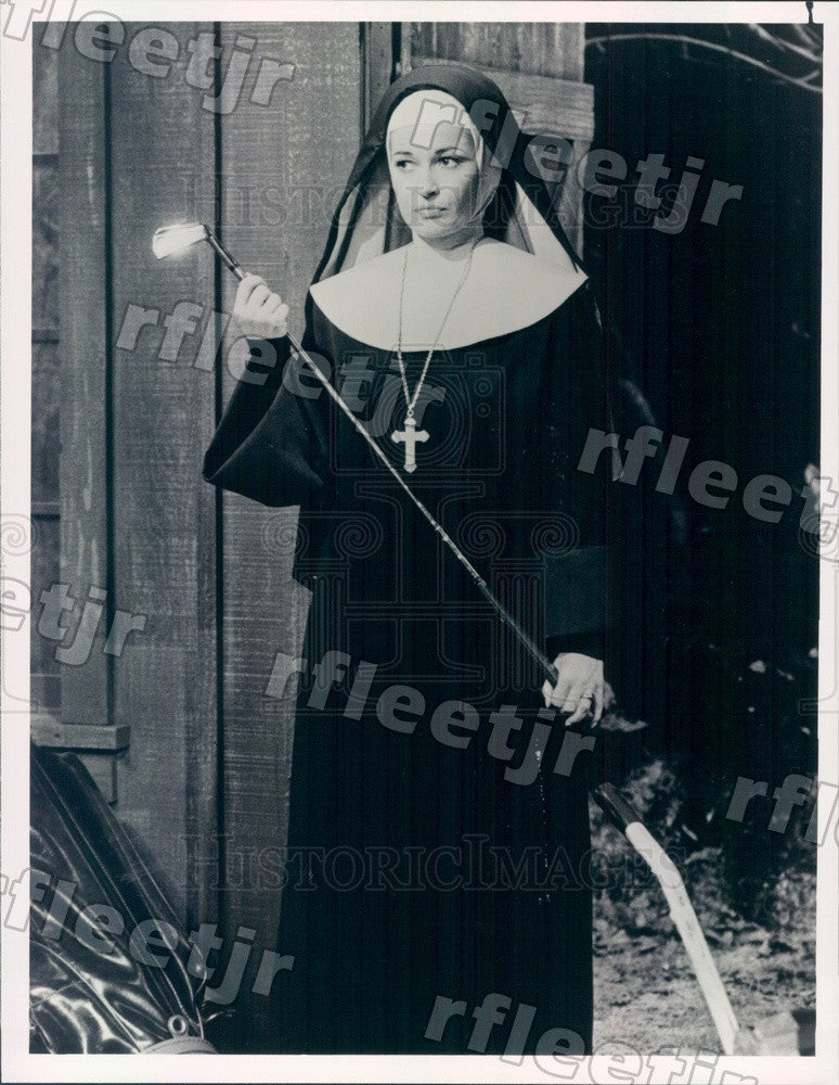 1989 British Actress Stephanie Beacham on TV Show Sister Kate Press Photo adz505 - Historic Images