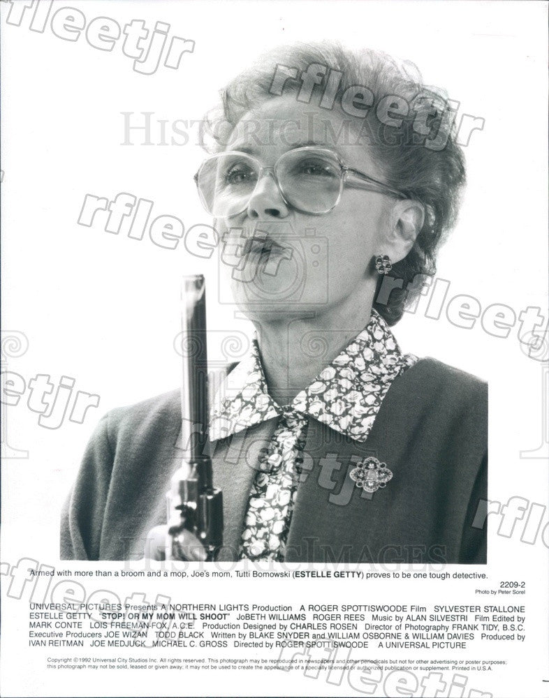 1992 Emmy Winning Actress Estelle Getty in Film Press Photo adz511 - Historic Images
