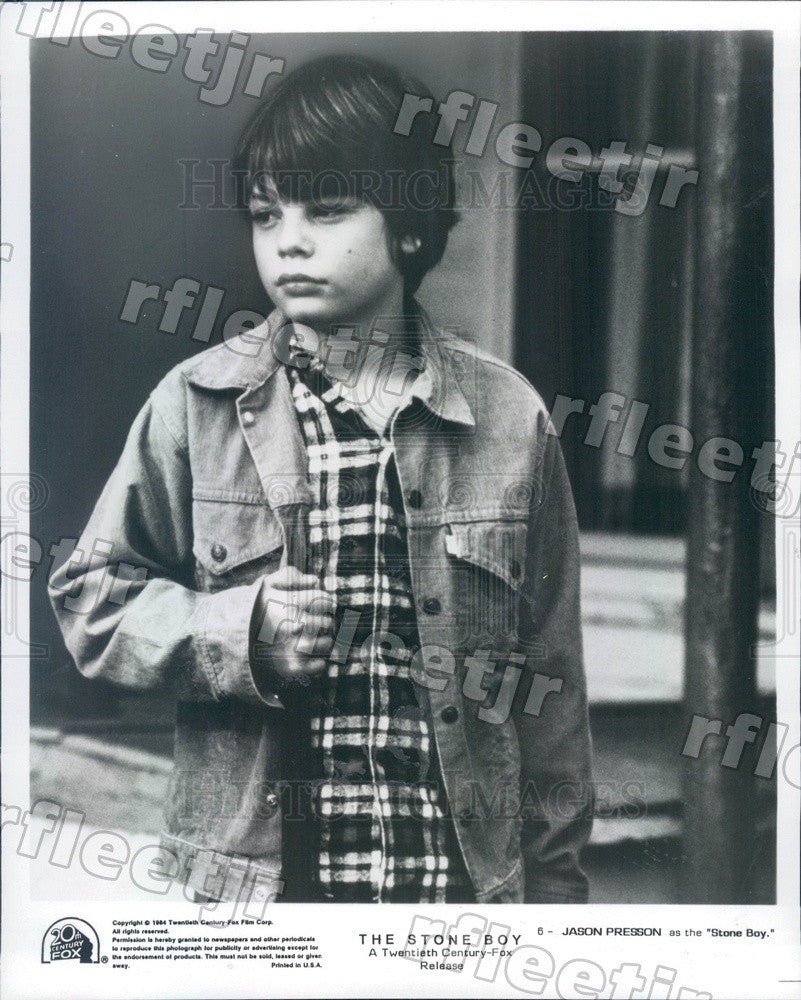 1984 Actor Jason Presson in Film The Stone Boy Press Photo adz515 - Historic Images