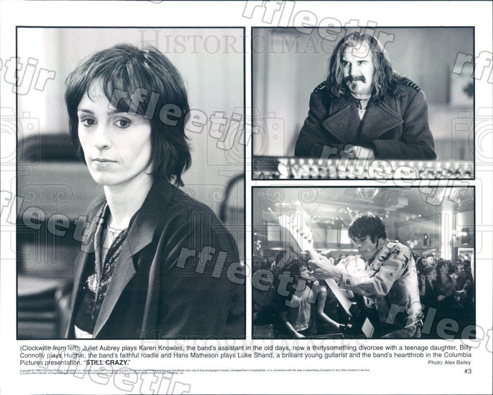 1998 Actors Juliet Aubrey, Billy Connolly, Hans Matheson Press Photo adz519 - Historic Images
