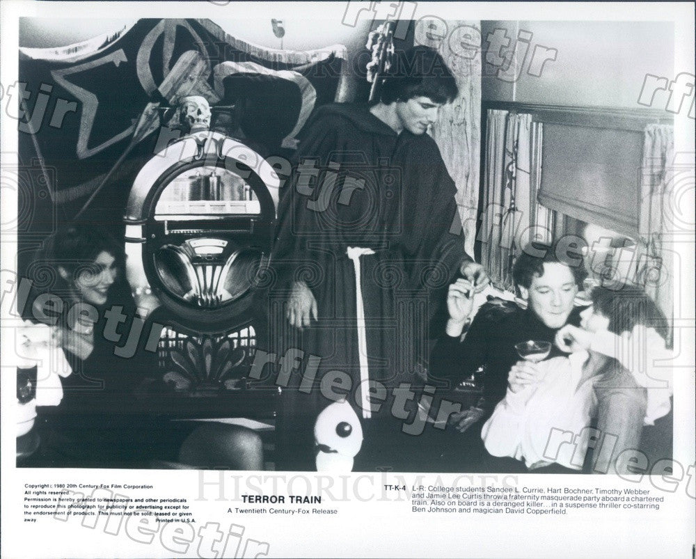 1980 Actors Sandee Currie, Hart Bochner, Jamie Lee Curtis Press Photo adz541 - Historic Images