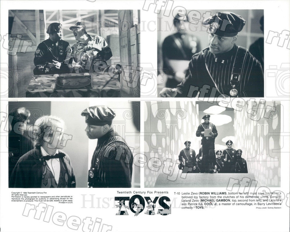 1992 Actors Robin Williams, Michael Gambon, LL Cool J in Toys Press Photo adz55 - Historic Images