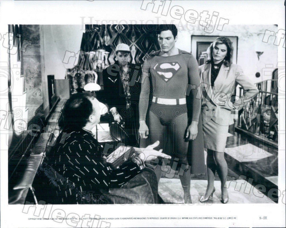 1987 Actors Christopher Reeve, Mariel Hemingway, Gene Hackman Press Photo adz561 - Historic Images