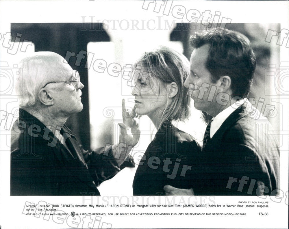1994 Actors Rod Steiger, Sharon Stone, James Woods Press Photo adz569 - Historic Images