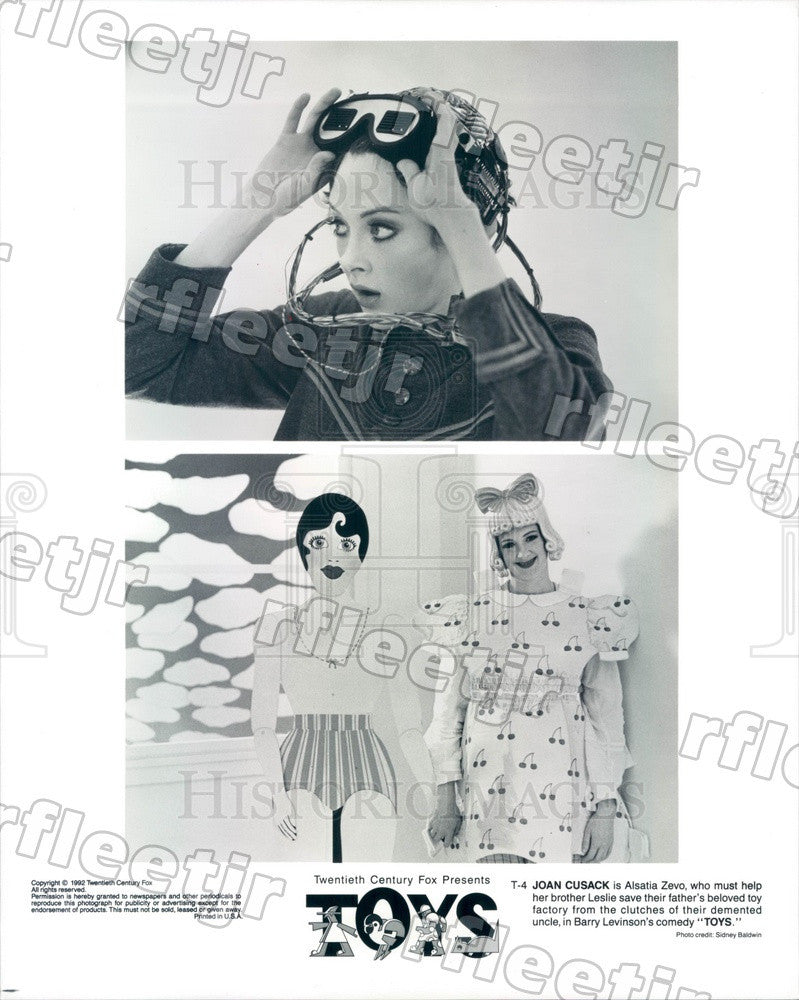 1992 Hollywood Actress Joan Cusack in Film Toys Press Photo adz57 - Historic Images