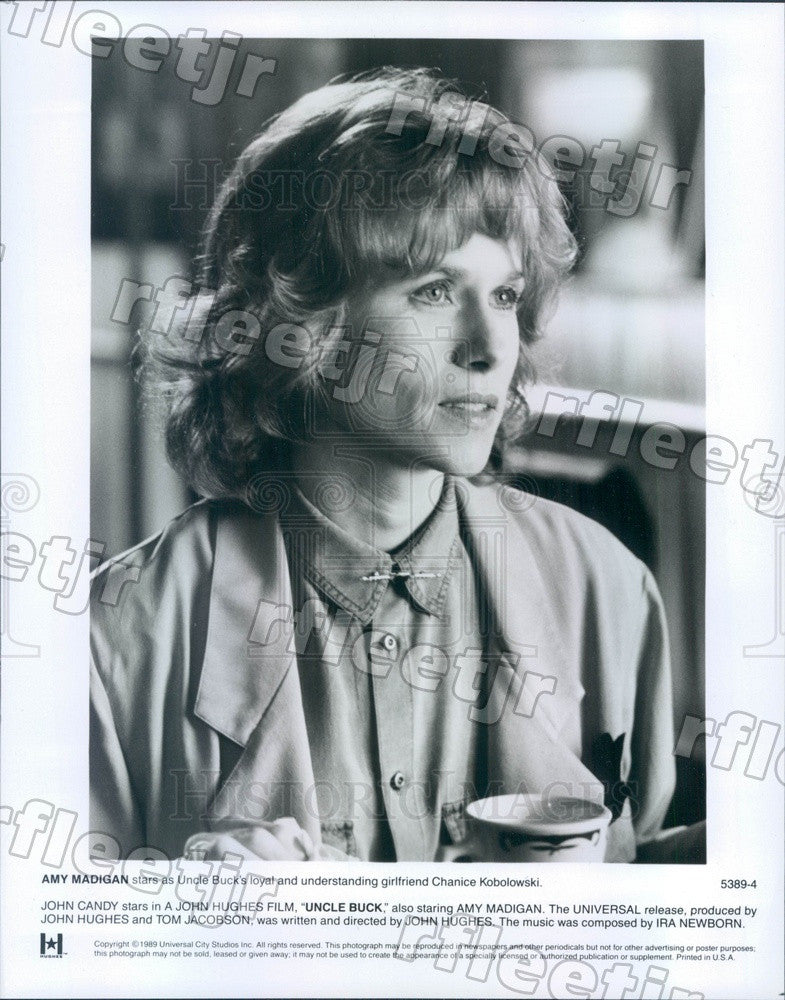 1989 American Hollywood Actress Amy Madigan in Film Uncle Buck Press Photo adz9 - Historic Images