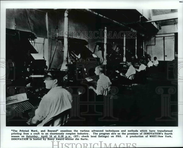 Press Photo The Printed Word and Beyond on Innovation - cvb17045 - Historic Images
