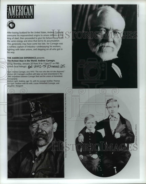 Press Photo The Richest Man in The World: Andrew Carnegie - cvb19647 - Historic Images