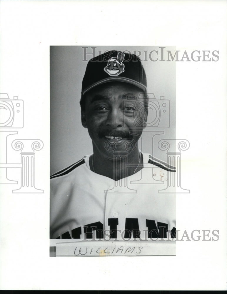 Press Photo Williams, Cleveland Indians - cvb51298 - Historic Images
