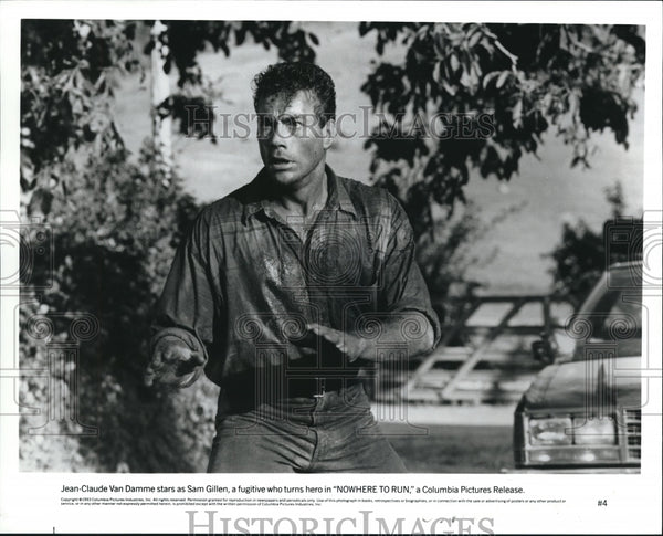 1993, No Where To Run Jean Claude Van Damme - cvp52527 - Historic Images