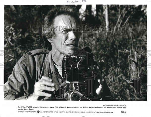 1995, Clint Eastwood in The Bridges of Madison County - cvp57207 - Historic Images