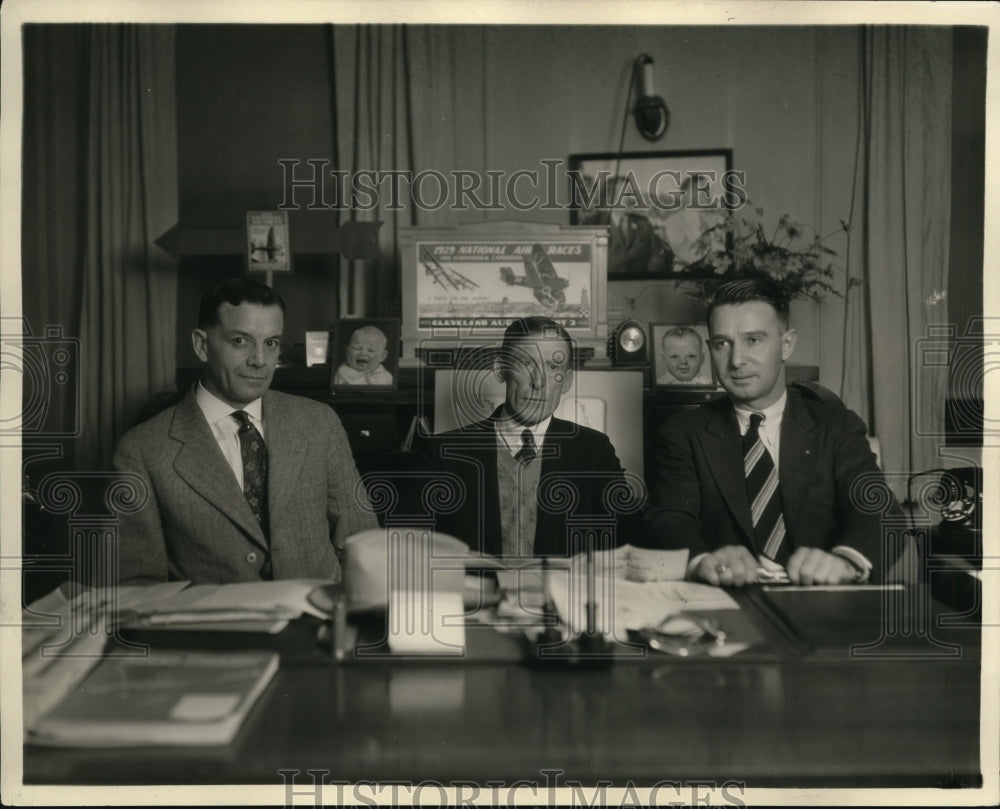 1929, Lloyd Logan, Brig. Gen Frank Lahm and Cliff W. Henderson - Historic Images