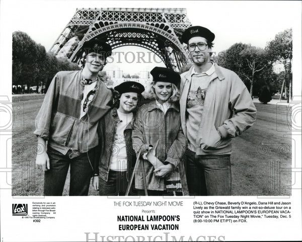 1996, Chevy Chase, Beverly D'Angelo, Dana Hill and Jason Lively - Historic Images