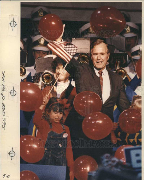 Press Photo George Bush United States President - Historic Images