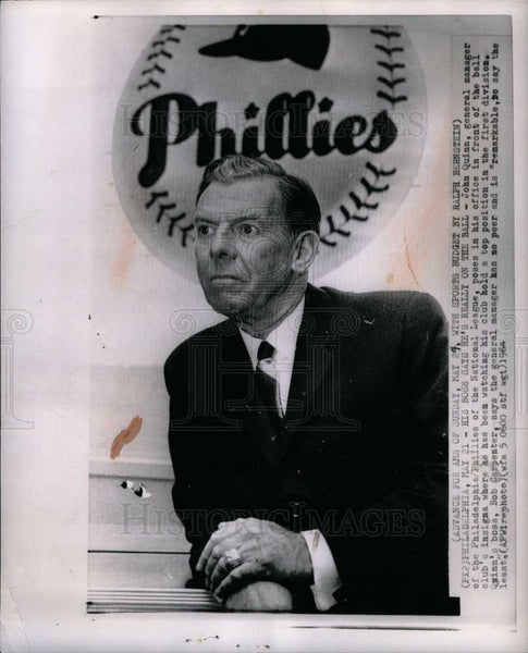 1964 Press Photo John Quinn Philadelphia Phillies - Historic Images