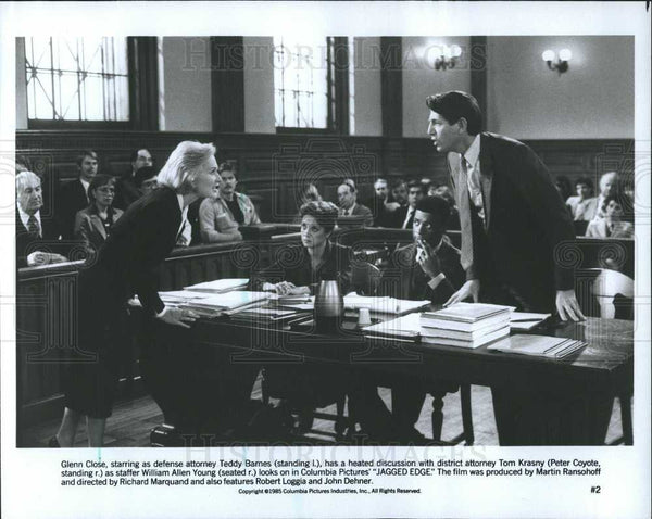 Press Photo Glenn Close Peter Coyote Jagged Edge - Historic Images