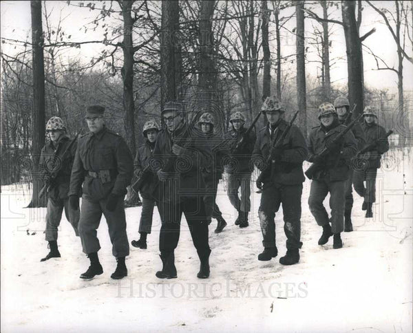 1963 Press Photo Marines marching 50 miles - Historic Images