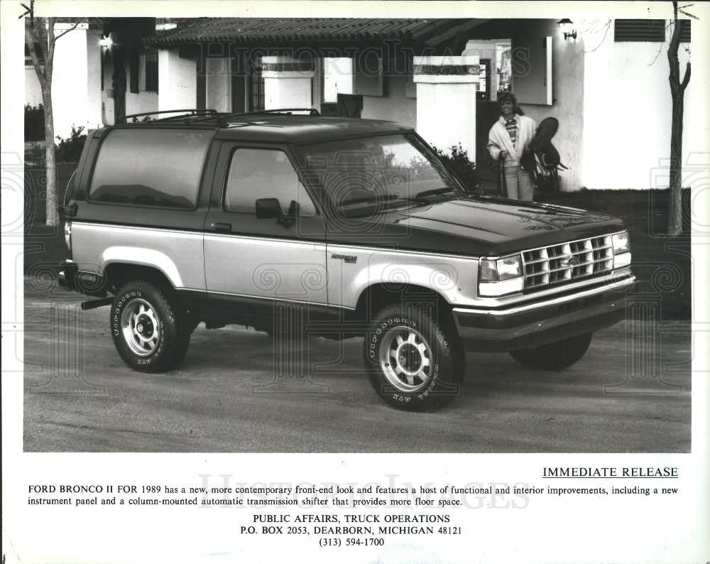 1989 Press Photo Ford Bronco Ii Historic Images