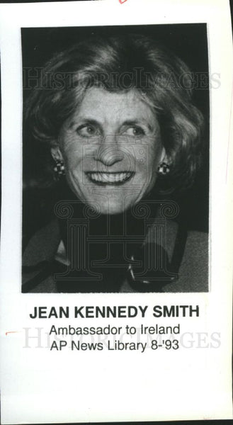 1993 Press Photo Jean Kennedy Smith Ireland Ambassador - Historic Images