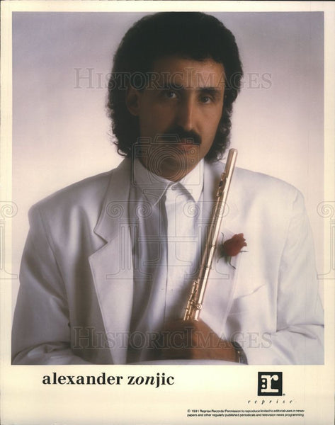 Press Photo Alexander Zonjic flutist jazz Canadian - Historic Images