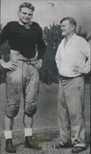 1937 Press Photo Robert Zuppke, football, Illinois - Historic Images
