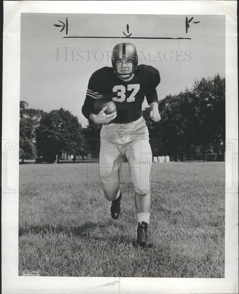 1950 Press Photo Gil Stephenson football - Historic Images