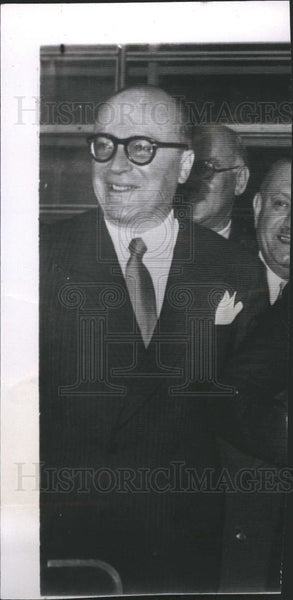 1953 Press Photo Stefanos Stefanopoulos politician - Historic Images