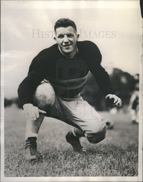 1938 Press Photo Harry Stella Army Captain Football - Historic Images