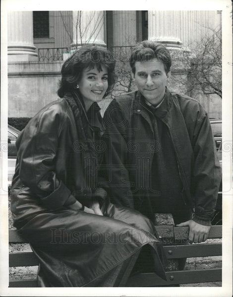 1987 Press Photo Margaret Colin American actress - Historic Images