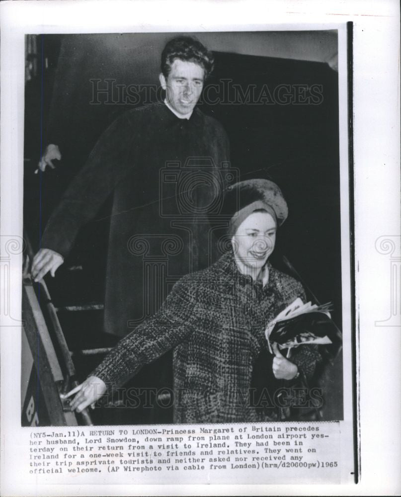 1965 Press Photo Princess Margaret Ireland Lord Snowdon - Historic Images