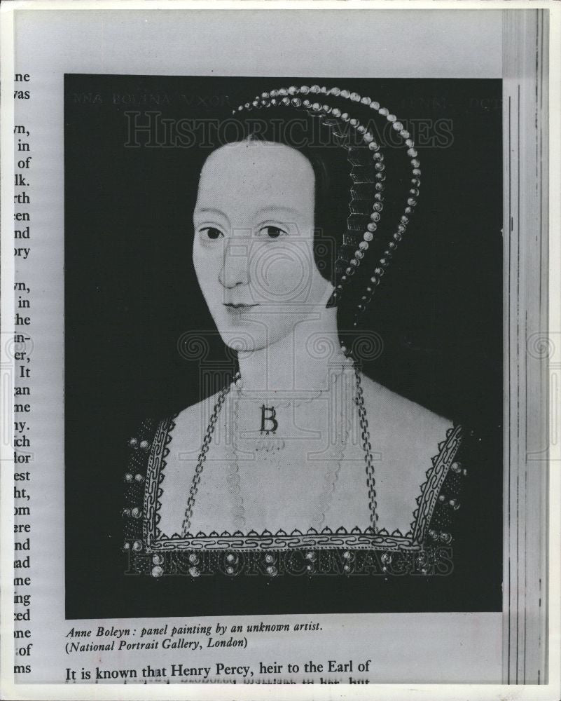 1978 Press Photo Anne Boleyn painting - Historic Images