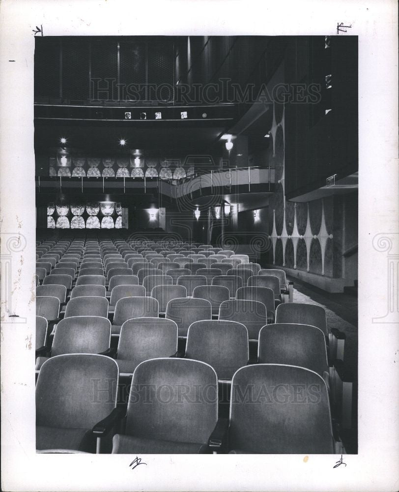 1963 Press Photo Fisher Building and Theatre Complex - Historic Images