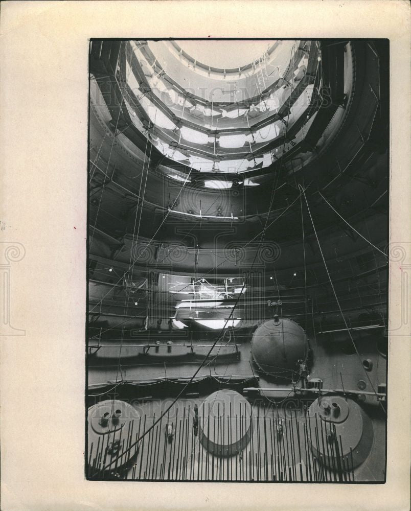 1973 Press Photo huge reactor Uranium fuel core - Historic Images