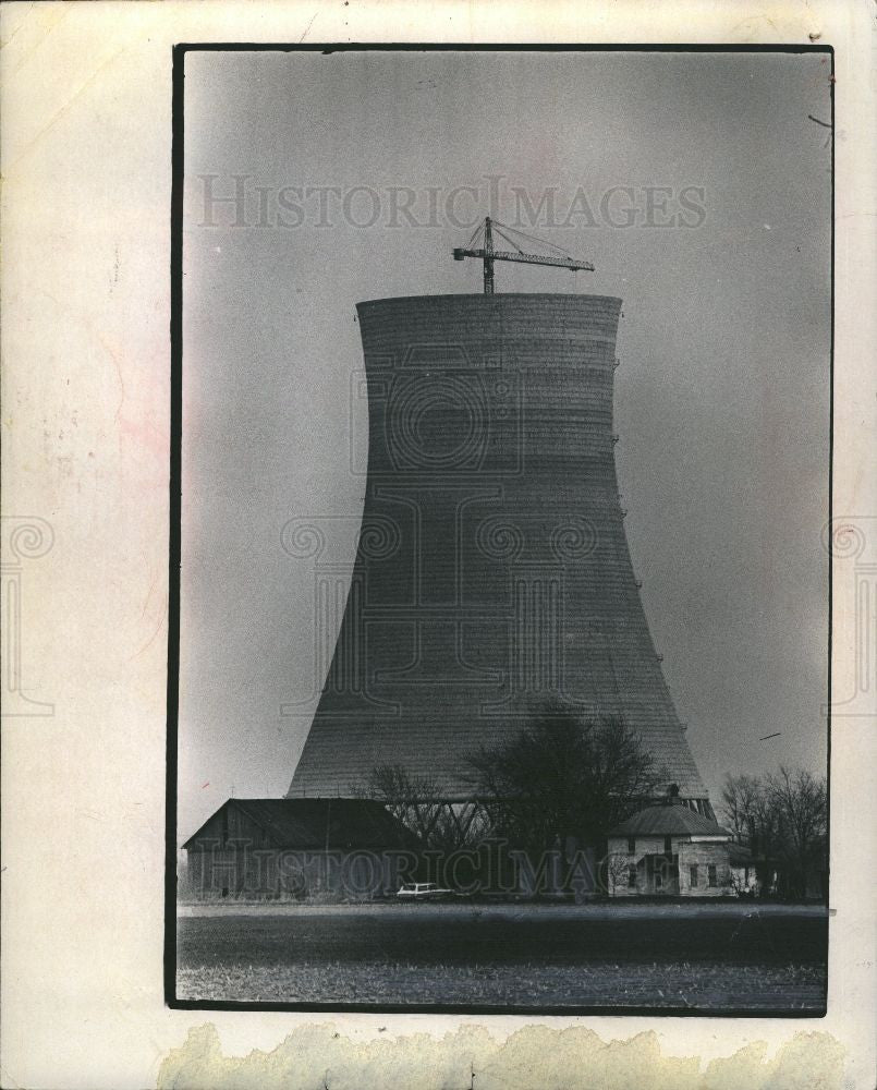 1973 Press Photo Fermi No.2  tower nuclear power plant - Historic Images