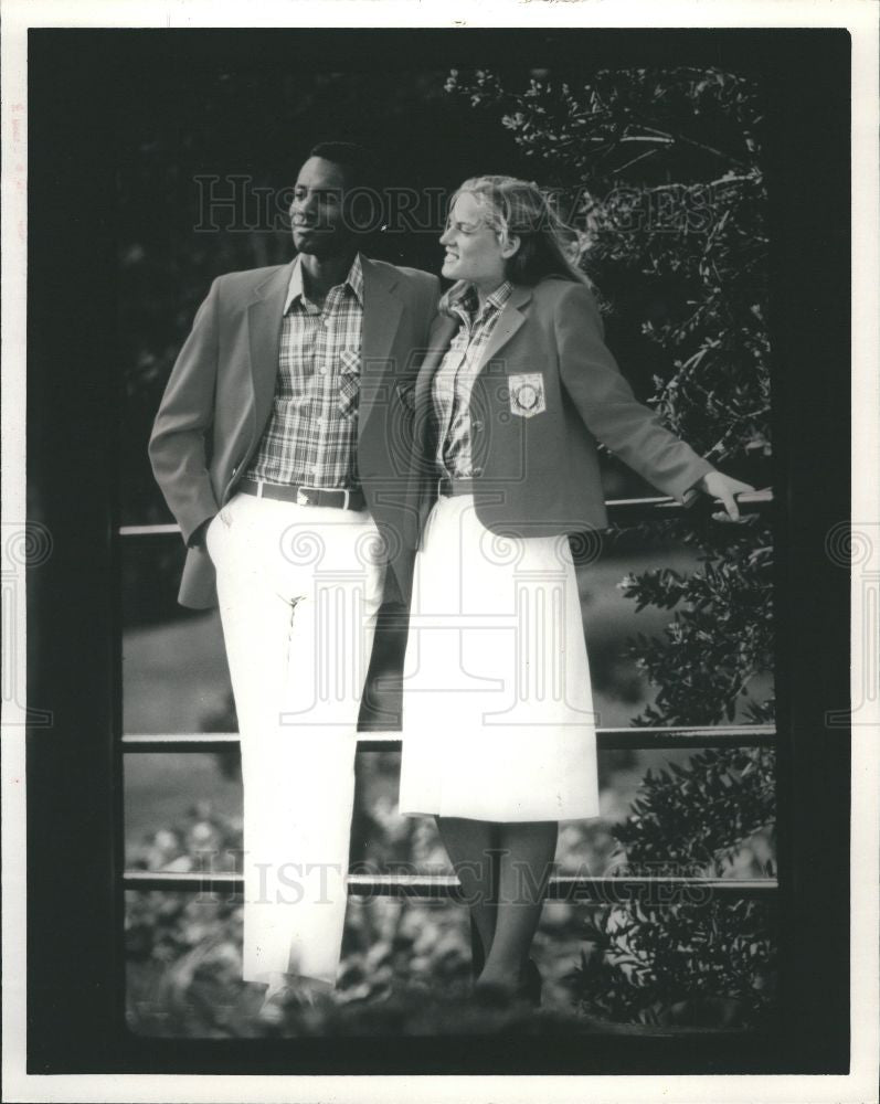 1983 Press Photo official outfitter Levi Strauss & Co. - Historic Images