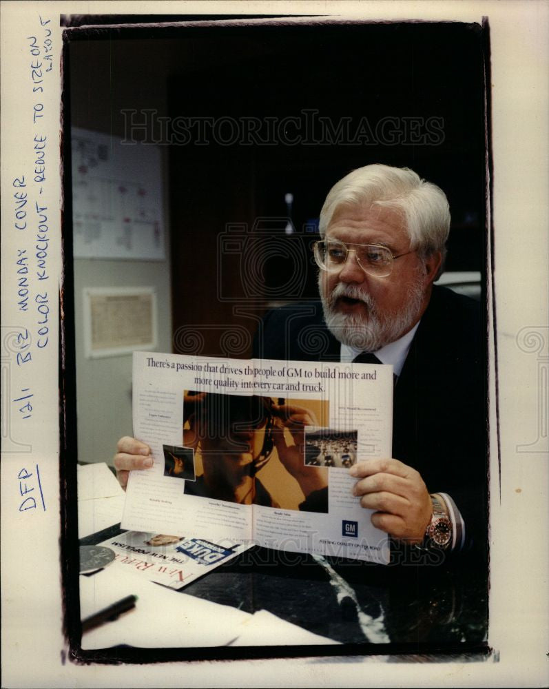 1991 Press Photo Ad Excecutive Sean Fitzpatrick GM - Historic Images