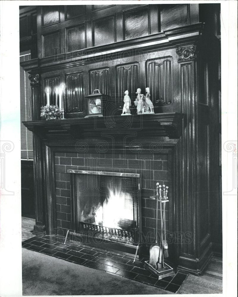 1983 Press Photo fireplace carbon monoxide poisoning - Historic Images