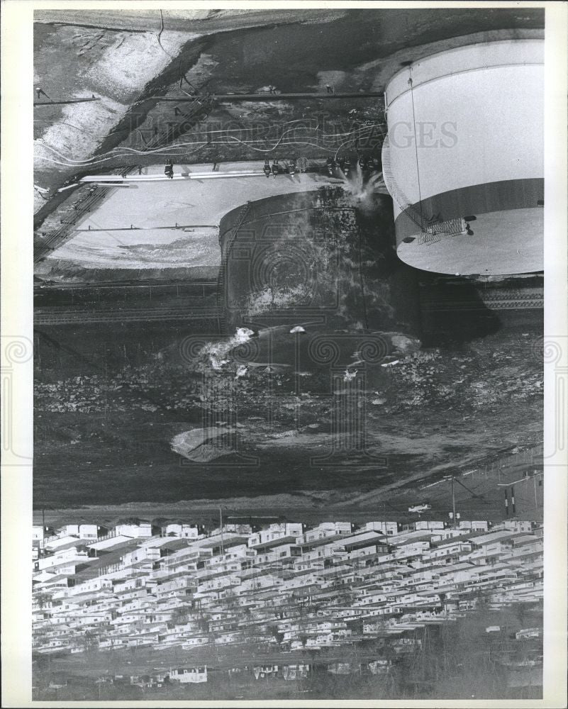 1979 Press Photo Fire chemical process - Historic Images