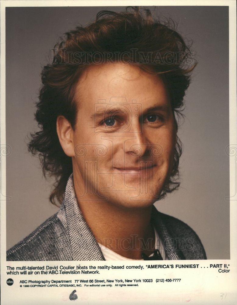 1991 Press Photo David Coulier Actor - Historic Images